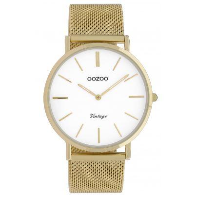 Oozoo C9909 Damenuhr Vintage Goldfarben/Weiß 40 mm 8719929009699
