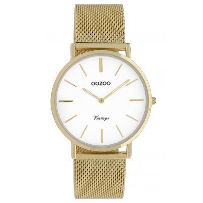 Oozoo C9910 Damenarmbanduhr Vintage Goldfarben/Weiß 36 mm 8719929009705