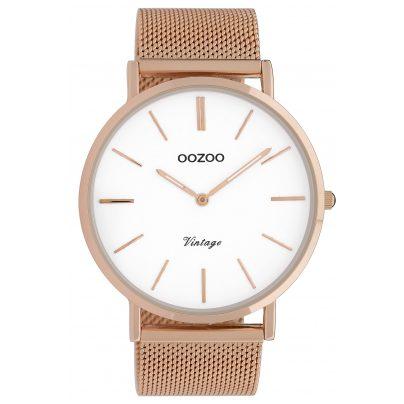 Oozoo C9916 Armbanduhr Vintage Roségoldfarben/Weiß 44 mm 8719929009767
