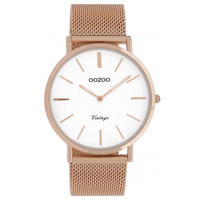 Oozoo C9917 Damenuhr Vintage Roségoldfarben/Weiß 40 mm 8719929009774