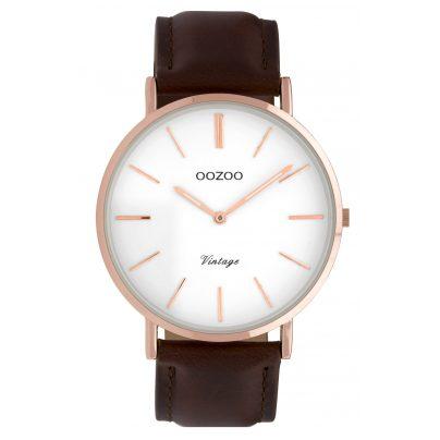 Oozoo C9832 Damenuhr Vintage Braun/Weiß 40 mm 8719929008203
