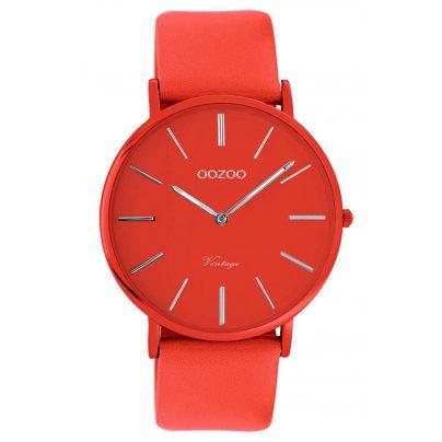 Oozoo C9885 Armbanduhr mit Lederband Chili Pepper 40 mm 8719929013887