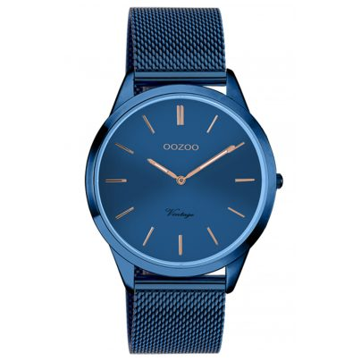 Oozoo C20007 Damen-Armbanduhr Ultra Slim Blau 38 mm 8719929015966