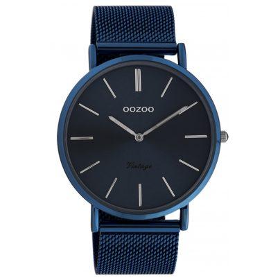 Oozoo C20015 Damen-Armbanduhr Ultra Slim Nachtblau 44 mm 8719929016048