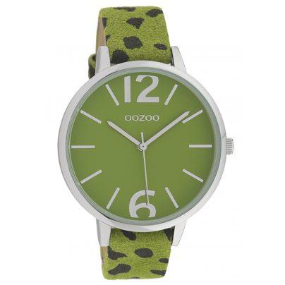 Oozoo C10197 Ladies' Watch Leopard Look Green 43 mm 8719929012187