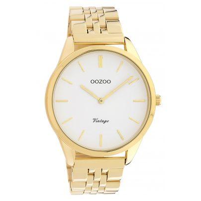 Oozoo C9985 Damenuhr Metallband Ø 38 mm Goldfarben/Weiß 8719929013672