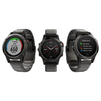 garmin fenix 5 saphir gps multisport smartwatch edelstahl. Black Bedroom Furniture Sets. Home Design Ideas