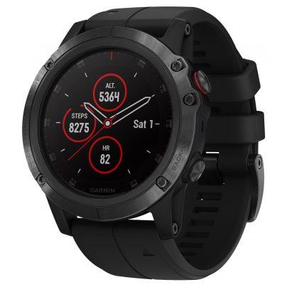 Garmin 010-01989-01 fenix 5X Plus Saphir GPS Multisport Smartwatch Schwarz 0753759197681