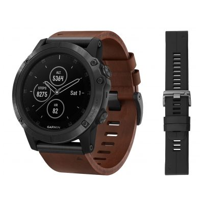 Garmin 010-01989-03 fenix 5X Plus Sapphire GPS Multisport Smartwatch Black 0753759197704