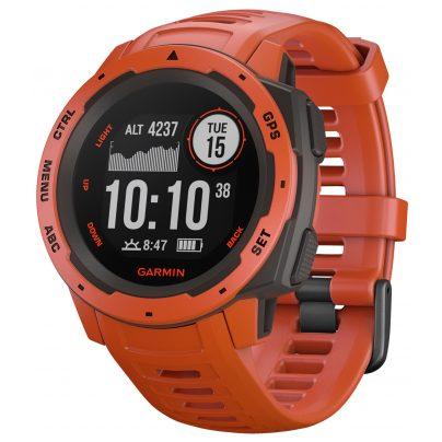 Garmin 010-02064-02 Outdoor Smartwatch Instinct Light Red/Slate Grey 0753759214586