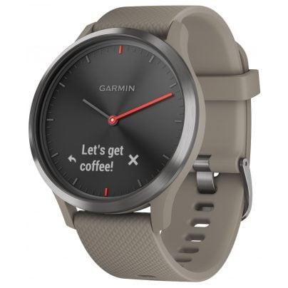 Garmin 010-01850-03 Smartwatch vivomove HR Sport Schwarz/Sandstein 0753759182397
