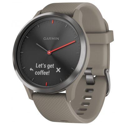 Garmin 010-01850-03 Smartwatch vivomove HR Sport Black / Sandstone 0753759182397