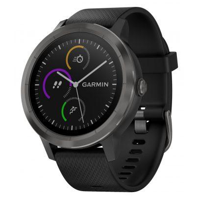 Garmin 010-01769-10 vivoactive 3 GPS-Multisport-Smartwatch Schwarz/Schiefer 0753759173203