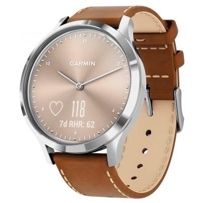 Garmin 010-01850-AA vivomove HR Premium Fitness-Tracker Smartwatch Hellbraun 0753759229009
