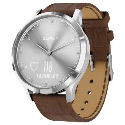 Garmin 010-01850-AD vivomove HR Premium Fitness Tracker Smartwatch Brown 0753759229030
