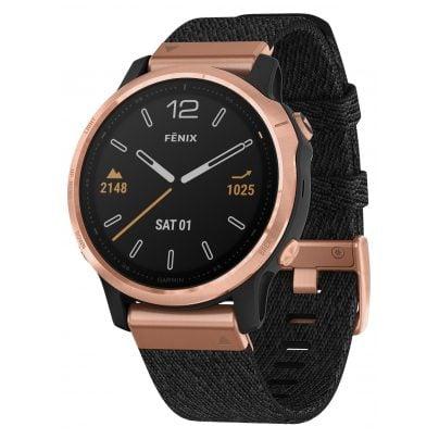 Garmin 010-02159-37 fenix 6S Sapphire Smartwatch Rose Gold/Black 0753759233075
