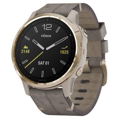 Garmin 010-02159-40 fenix 6S Sapphire Smartwatch Gold/Beige 0753759233105