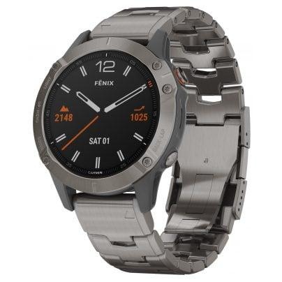 Garmin 010-02158-23 fenix 6 Saphir Smartwatch Grau/Titan 0753759232849