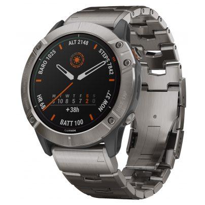Garmin 010-02157-24 fenix 6X Pro Solar Smartwatch Titanium 0753759232672