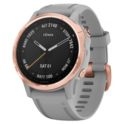 Garmin 010-02159-21 fenix 6S Sapphire Smartwatch Rose Gold/Grey 0753759232962