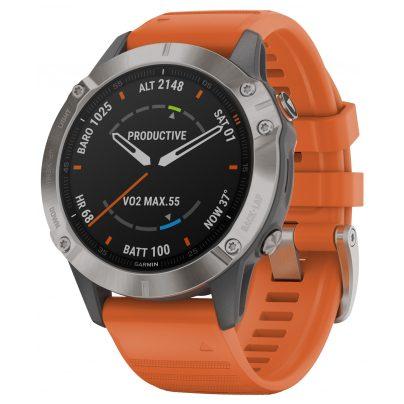 Garmin 010-02158-14 fenix 6 Sapphire Smartwatch with Titanium Bezel 0753759232788