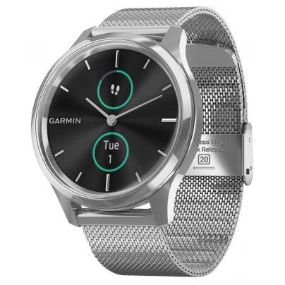 Garmin 010-02241-03 vivomove Luxe Smartwatch mit Milanaiseband 0753759234539