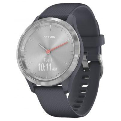 Garmin 010-02238-00 vivomove 3S Smartwatch mit Silikonband Granitblau/Silber 0753759234249