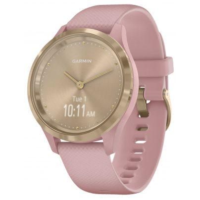Garmin 010-02238-01 vivomove 3S Smartwatch mit Silikonband Rosa/Gold 0753759234256