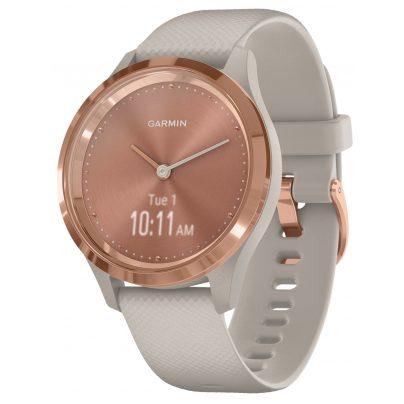 Garmin 010-02238-02 vivomove 3S Smartwatch Silicone Strap Dust Beige/Rose Gol 0753759234263