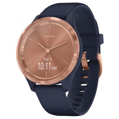 Garmin 010-02238-03 vivomove 3S Smartwatch Silicone Strap Dust Navy/Rose Gold 0753759240219