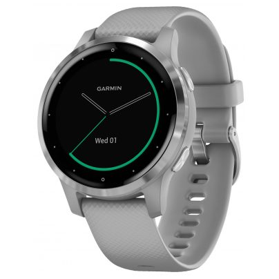 Garmin 010-02172-02 vivoactive 4s GPS Fitness-Smartwatch Grau/Silber 0753759227654