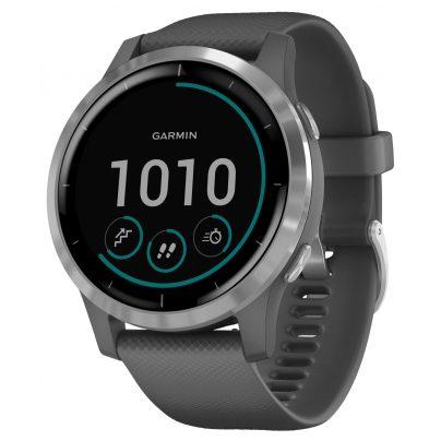Garmin 010-02174-02 vivoactive 4 GPS Fitness-Smartwatch Dunkelgrau/Silber 0753759227975