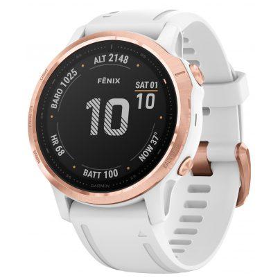 Garmin 010-02159-11 fenix 6S Pro Smartwatch Rose Gold/White 42 mm 0753759232900