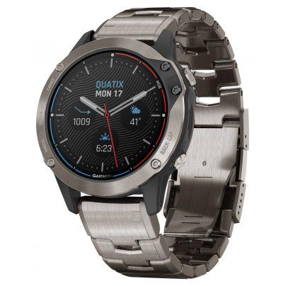 Garmin 010-02158-95 Quatix 6 Titan Marine GPS Smartwatch 0753759248284