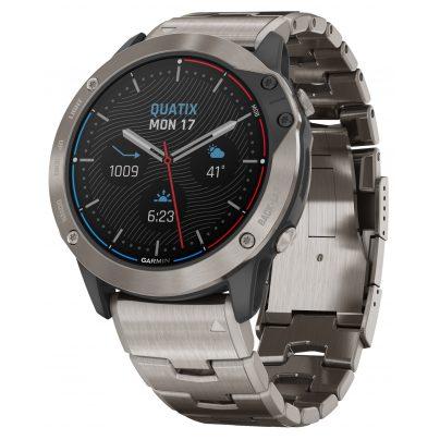 Garmin 010-02157-31 Quatix 6X Solar Titanium Marine GPS Smartwatch 0753759254056