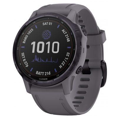 Garmin 010-02409-15 Fenix 6S Pro Solar Smartwatch Dunkelgrau / Lila 0753759251758