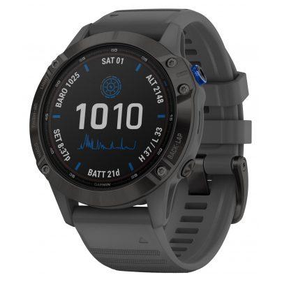 Garmin 010-02410-11 Fenix 6 Pro Solar Smartwatch Schiefergrau / Schwarz 0753759251802