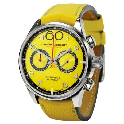 Alexander Shorokhoff AS.N.PT05-55 Avantgard Yellowmatic Herrenuhr 4260479160735