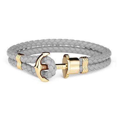 Paul Hewitt PH-PH-L-G-Gr-XL Ankerarmband Grau/Goldfarben 4251158711652