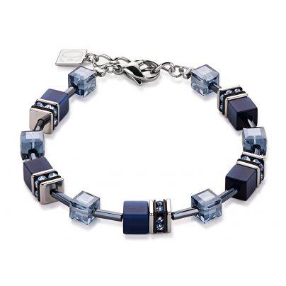 Coeur de Lion 4322/30-0722 Damen-Armband Geo Cube Navy 4250409682123