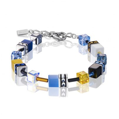 Coeur de Lion 2838/30-0701 Damenarmband Blau/Gelb 4251588300655