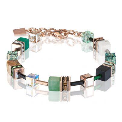 Coeur de Lion 4905/30-0510 Damen-Armband Grün/Beige 4251588303311
