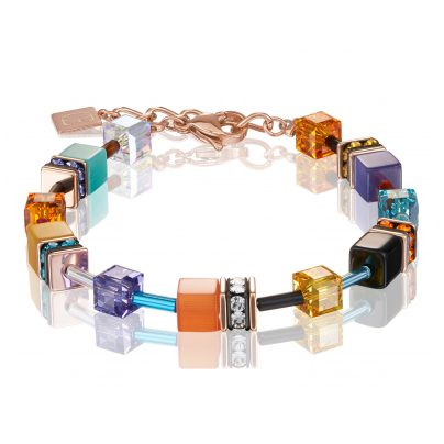 Coeur de Lion 2838/30-1575 Damen-Armband GeoCUBE Multicolor Couture 2 4251588307791