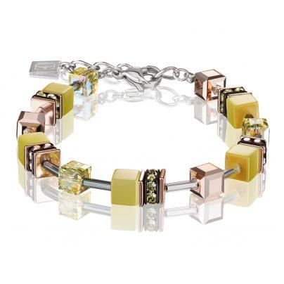 Coeur de Lion 4016/30-0120 Ladies' Bracelet GeoCUBE Light Yellow 4251588309337