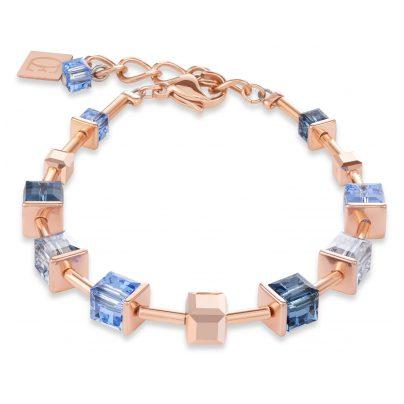 Coeur de Lion 4996/30-700 Damen-Armband Monochrome Blue Edelstahl roségold blau 4251588310524
