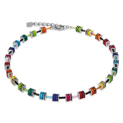 Coeur de Lion 4409/10-1500 Collier Geo Cube Small Multicolor 4250409654540