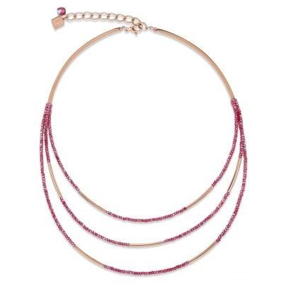 Coeur de Lion 4960/10-0300 Ladies´ Necklace Wine-Red 4251588307333