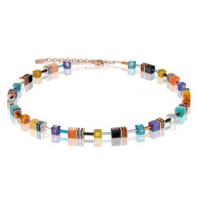 Coeur de Lion 2838/10-1575 Damen-Halskette GeoCUBE Multicolor Couture 2 4251588307807