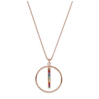 Coeur de Lion 5001/10-1500 Halskette Multicolor Edelstahl roségold 4251588309917