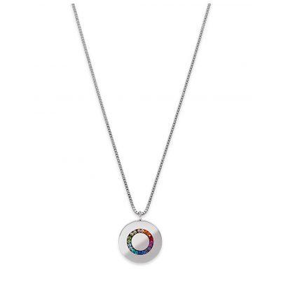 Coeur de Lion 5004/10-1517 Damen-Halskette Multicolor Edelstahl Disk bunt 4251588309719